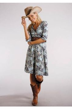a0900fc8e33591 6900 Grassland Poppy V-neck Dress Stetson Ladies Collection- Fall I Group  Dresses and