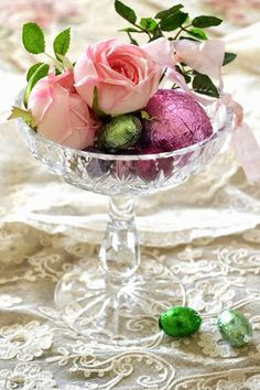 Roses and eggs
