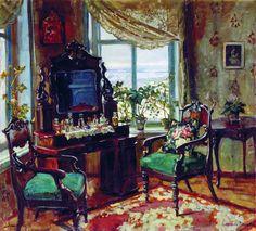 Grand Duke Michael's Brasov estate painted by Stanislav Zhukovsky, c. 1916.