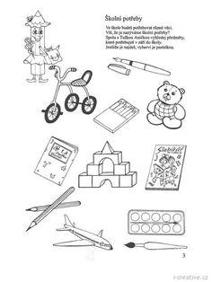 v září půjdu do školy 3 Presents For Kids, Treasure Boxes, Coloring Pages, Kindergarten, Bullet Journal, Teaching, Children, Creative, Activities
