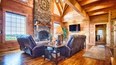 From the chef's kitchen to wine cellar, this log home is one rustic retreat you have to see to believe. Home, Outdoor Decor, House, Rustic Retreat, Log, Log Home Interior, House Interior, Living Spaces, Log Homes