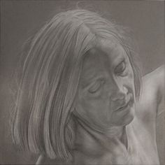 """""""Gianna"""" study for """"mythica monstra et vanae spes"""" pencil and white conté on paper cm 40x40"""