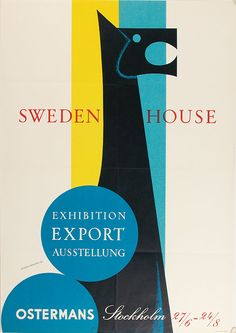 Sweden House poster. Designed by Anders Beckman (1958)