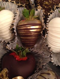 Gold chocolate covered strawberry