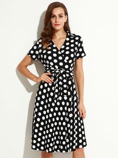 Women's Holiday / Plus Size Boho Loose Dress,Polka Dot V Neck Knee-length Short Sleeve Black Spandex Summer - USD $22.99 ! HOT Product! A hot product at an incredible low price is now on sale! Come check it out along with other items like this. Get great discounts, earn Rewards and much more each time you shop with us!