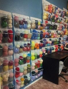yarn organization | Yarn organizing idea | Crafty