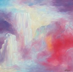 Mountains and Waterfalls | DegreeArt.com The Original Online Art Gallery