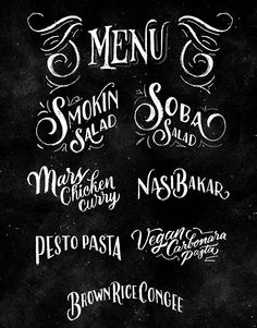 Mars Kitchen Menu Board Design on Behance