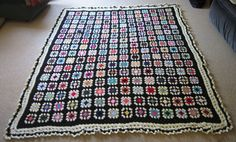 All 224 Granny Squares of Black Beauty