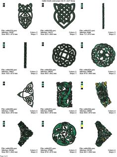 """Linaria Dalmatica Designs :: CELTIC KNOTS AND LOOPS VOL. 5 - 4x4"""" HOOP SIZE"""