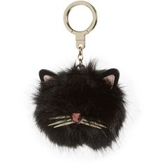 Women's Kate Spade New York Faux Fur Cat Pom Bag Charm (1.054.870 IDR) ❤ liked on Polyvore featuring accessories, black multi and kate spade