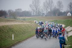 REFLECTIONS ON THE SEMI-CLASSICS BY KRISTOF RAMON - It's now March, but there's still some snow beside the Holleweg during E3 Harelbeke.