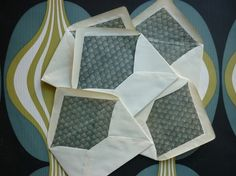 """Ecaille"" vintage envelopes"