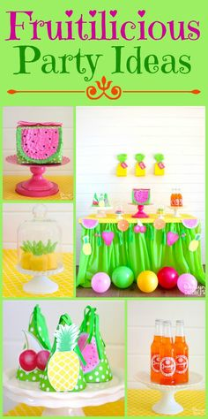 Best Diy Crafts Ideas For Your Home Fruitilicious Party Ideas! Deliciously darling ideas for the cutest summer party yet! You will love the printables included! Cool Diy, Crafts For Kids, Diy Crafts, Animal Party, Party Animals, Luau Party, Party Entertainment, Diy Party Decorations, Party Printables