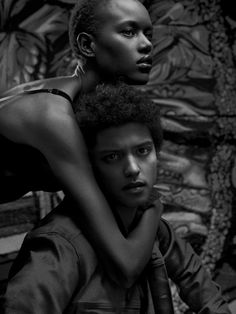Rock Star Moment – Photographed for the latest issue of Flaunt Magazine, model Ajak Deng joins musician Bruno Mars for the cover story shot in black and white by Hunter & Gatti. The pair wears tailored ensembles evoking a retro vibe courtesy of stylist Lysa Cooper.