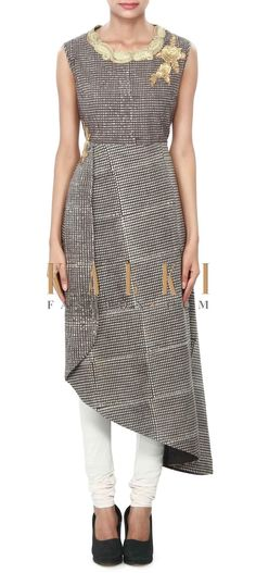 Buy Online from the link below. We ship worldwide (Free Shipping over US$100) Price- $169 Click Anywhere to Tag http://www.kalkifashion.com/brown-suit-enhanced-in-asymmetric-hem-line-only-on-kalki.html