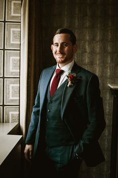 Groom in Grey Suit with Burgundy Tie | By Benni Carol Photography | Intimate Wedding | Family Wedding Portrait | Rome Wedding | Elopement | Destination Wedding | City Wedding | Small Wedding Morning Suits, Burgundy Tie, Red Rose Bouquet, Groomsmen Suits, Looking Dapper, Grace Loves Lace, Wedding Portraits, Rome, Destination Wedding