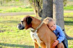 Kene loves his boxer, Salty Dog.