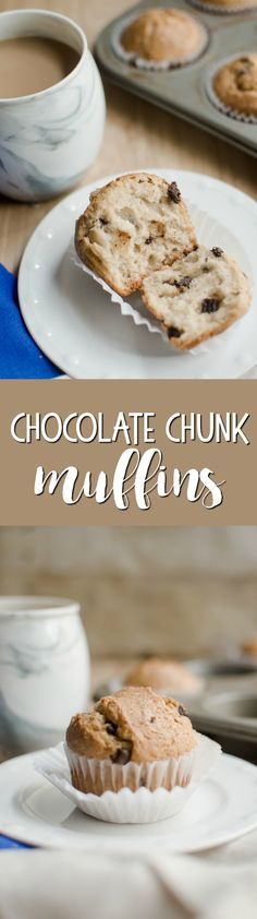 A delicious chocolate chunk muffin for when you want a sweet treat in the morning