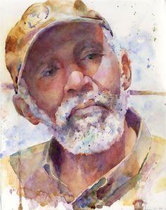 Study portret  watercolor by Kim Johnson