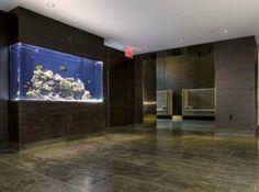 Cool Fish Tanks Designs for Living Room: Custom Saltwater Reef Aquarium Nature Aquarium, Home Aquarium, Reef Aquarium, Saltwater Aquarium, Fish Tank Design, Pond Design, House Design, Aquarium Stand, Aquarium Design
