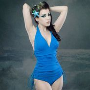 Cute for a pin-up. Like the idea of blue and water theme