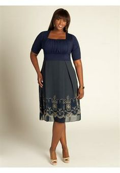 Hayleigh Dress in Midnight Blue   Plus Size Special Occasion Dresses   OneStopPlus