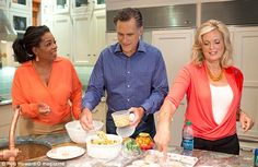 First meeting: Mitt and Ann Romney welcomed Oprah Winfrey into their roomy New Hampshire holiday home