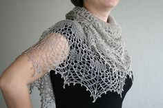 This crescent shaped shawl is so pretty with its delicate lace pattern and beading. Light as a feather in 2ply lace or more substantial in fingering weight yarn, either way, this little shawl is totally romantic and yet suitable for all ages, Bride, Bridesmaid or even Mother of the Bride. Then again, why wait for a wedding? Promise me … you will knit one of these and love wearing it every day! This pattern is only available as part of the ebook.