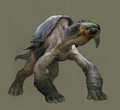 tortoise by Mohsen Malakooti Alien Creatures, Magical Creatures, Fantasy Creatures, Beautiful Creatures, Creature Feature, Creature Design, Tortoise Drawing, Dragon Mythology, Besta