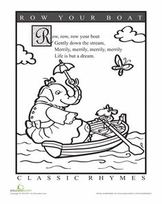 Nursery Rhyme Coloring Page Inkspired Musings Mary Had A