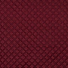Wine Diamond Burgundy Contemporary Brocade Upholstery Fabric