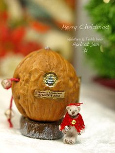 christmas in a walnut = What little girl wouldn't love this.  For ease could make the bear a little bigger to fit in the walnut.