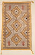 "Navajo Eye Dazzler Rug Weaving  28"" X 45""  Circa 2000  #C79"