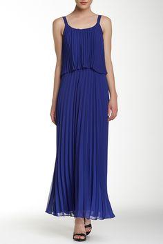 Eliza J | Strappy Pleated Popover Maxi Dress | Sponsored by Nordstrom Rack.