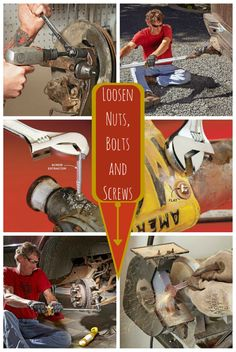 How to Loosen Nuts, Bolts and Screws Torches, screw extractors, oil and other tricks to help you free stuck fasteners. These tips work on any fasteners in your home, automobiles and lawn mowers. So stop dealing with problem nuts, bolts and screws and make life easy on yourself with these time-tested tricks.