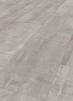 ter Hürne Cement Look Light Grey Laminate Tile Laminate Tile Flooring, Grey Laminate, Grey Flooring, Kitchen Flooring, Kitchen Furniture, Grey Bathroom Floor, Grey Kitchen Floor, Grey Floor Tiles, Concrete Look Tile
