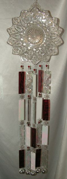 Snowflake Windchime in Stained Glass. $45.00, via Etsy.