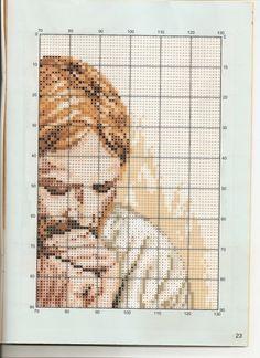 Gallery.ru / Фото #51 - gb10 - nqura Simple Cross Stitch, Cross Stitch Flowers, Cross Stitch Charts, Cross Stitch Embroidery, Hand Embroidery, Cross Stitch Patterns, Portrait Embroidery, Cross Stitch Cushion, Flower Embroidery Designs