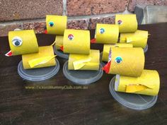 DIY CRAFT ** Toilet paper rolls ** 6 six little ducks went out to play....