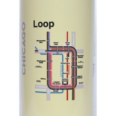 Made in USA Reusable Water Bottles - Chicago 'L'