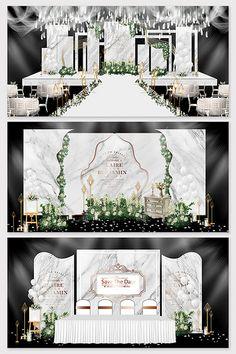 Modern minimalist white marble texture Mori theme wedding effect picture & Models Decor Wedding Backdrop Design, Wedding Stage Design, Wedding Stage Decorations, Backdrop Decorations, Backdrops, Wedding Mandap, Wedding Receptions, Wedding Table, Wedding Ideas