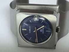 Rare 1960'S-70'S Gubelin G Quartz Cuff Swiss Watch Ref. G0710 (D446) #Gubelin #Fashion