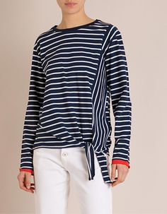 Camisola Riscas | MO Online Capsule Wardrobe, Fall, Tops, Women, Fashion, Full Sleeves, Bold Stripes, Style Clothes, Sleep Dress