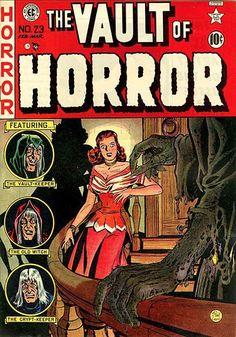 Inbetweens: EC Horror Comics Covers – AnimationResource… – Serving the Online … - Best Comic Books Best Comic Books, Comic Books Art, Comic Art, Book Art, Horror Posters, Horror Comics, Scary Comics, Horror Art, Silent Horror
