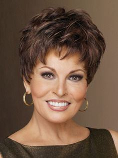 WINNER ELITE Wig by RAQUEL WELCH, Glazed Mahogany. Winner Elite by Raquel Welch is a pixie with barely waved layers that's perfect for every occasion. The ready-to-wear synthetic hair looks and feels like natural hair. Short Hair Cuts, Short Hair Styles, Bob Styles, Pixie Cuts, Raquel Welch Wigs, Short Wigs, Short Pixie, Curly Wigs, Womens Wigs