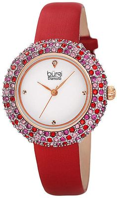 484ac5489 Burgi Womens Red Strap Watch-B-227rd - JCPenney