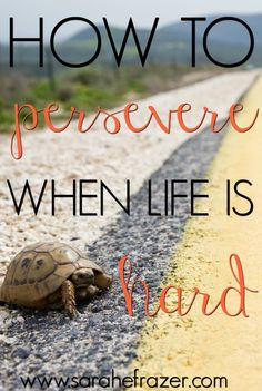 How to Persevere When Life is Hard - Sarah E. Frazer