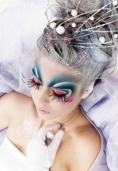 fantasy eye makeup and hair