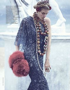 Madalene de la Motte by Thomas Whiteside for Tatler Russia December 2011